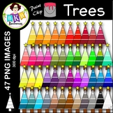 Tree Clip Art ● Paint Chip Trees ● Clip Art