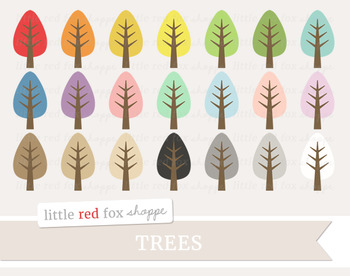 Tree Clipart; Natural, Oak, Fall, Leaf