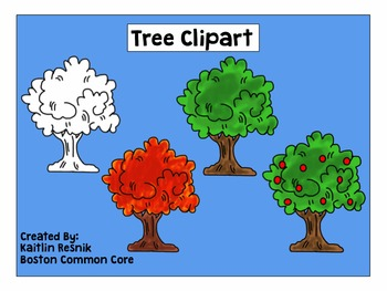 Tree Clipart - 4 Different Versions