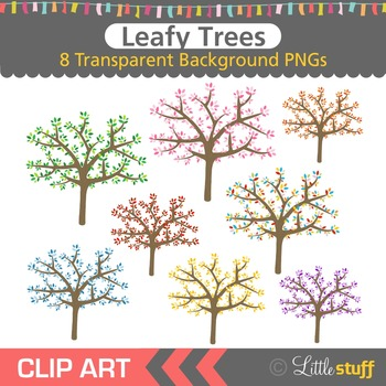 Tree Clipart, Leafy Trees Clip Art