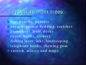 Tree Conservation powerpoint