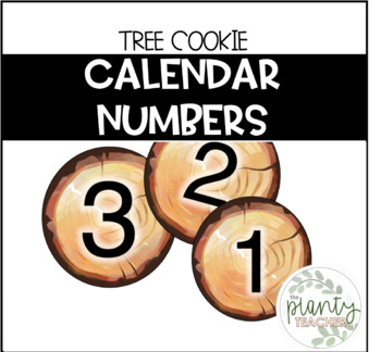 Tree Cookie Calendar Numbers