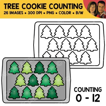 Tree Cookie Counting Scene Clipart