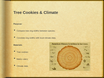 Tree Cookies: Seeing the Past Through Tree Rings