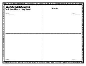 Tree Diagram Task Cards