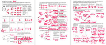 Tree Diagrams Spring 2014 with Answer Key (Editable)