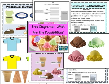 Tree Diagrams:  What Are All The Possibilities (3 math activities)