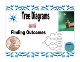 7th grade Tree Diagrams and Finding Outcomes - Simple Game