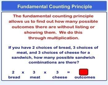 Tree Diagrams and Fundamental Counting Principle Smartboard Lesson