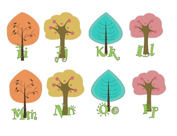 Tree-Eco-Environment Word Wall Letters