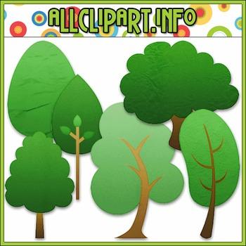 Tree Elements Clip Art