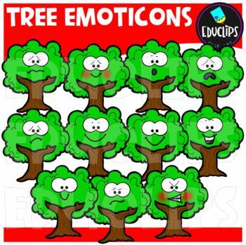 Tree Emoticons Clip Art Bundle {Educlips Clipart}