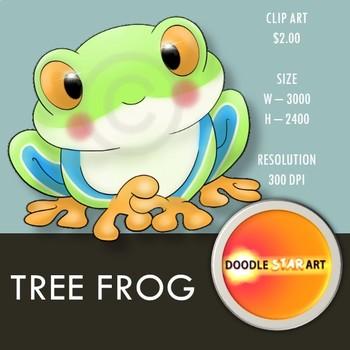 Tree Frog Clip Art
