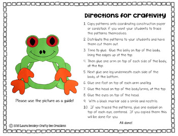 Tree Frog Cut and Paste