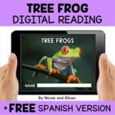 Tree Frog Reading Comprehension for Google Classroom
