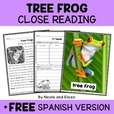 Close Reading Passage - Tree Frog Activities