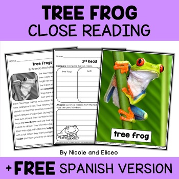 Close Reading Tree Frog Activities