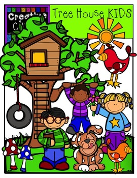 Tree House KIDS {Creative Clips Digital Clipart}