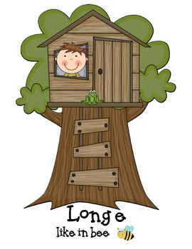 Tree House Treats- A Long e (ee and e_e) and Short e Word Sort Game