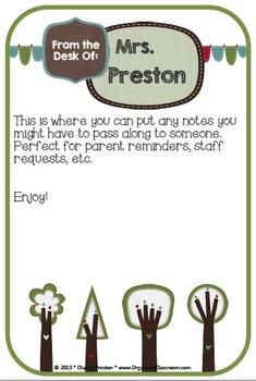 Tree Love Simple Teacher Planner Set