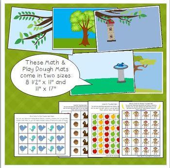Tree Math & Play Dough Mats