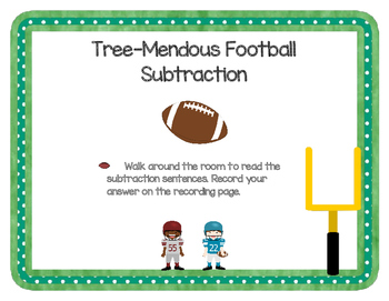 Tree-Mendous Football Subtraction