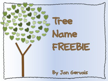 Tree Name FREEBIE