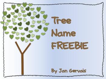 Tree Name FREEBIE