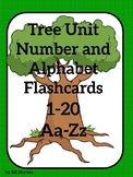 Tree Number and Alphabet Flashcards 1-20 Aa-Zz