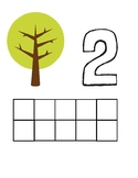 Tree PlayDoh Math Mats