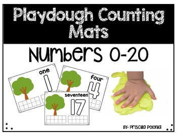 Tree Playdough Counting Mats Numbers 0-20
