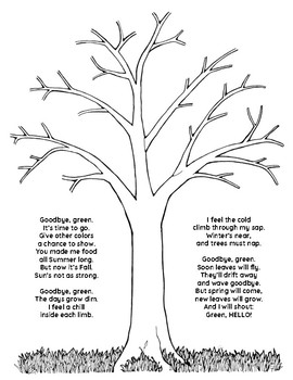 Tree Science Poem Craftivity Fall Summer Spring Winter Tpt Is it that they are born again and we grow old? tree science poem craftivity fall summer spring winter
