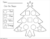 Tree Shape Color, Count, and Graph (FREEBIE)