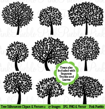 Tree Silhouettes Clip Art Clipart