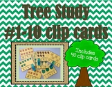 Tree Study Clip cards 1 to 10