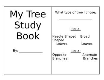 Tree Study Foldable Book