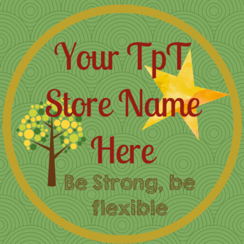 TpT Store Tree Swirl Logo, Banner and Label Design Bundle