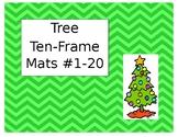 Mini Eraser Tree Ten-Frame Mats Numbers 1-20
