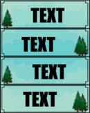 Tree Theme Display Labels EDITABLE