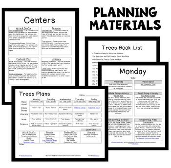 Tree Theme Preschool Classroom Lesson Plans