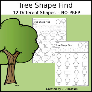 Tree Theme Shape Find
