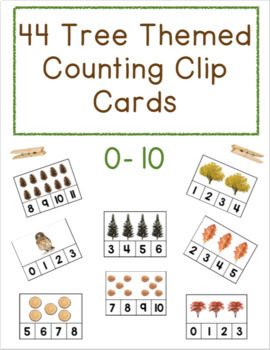Tree Themed Counting Clip Cards- Creative Curriculum Tree Study