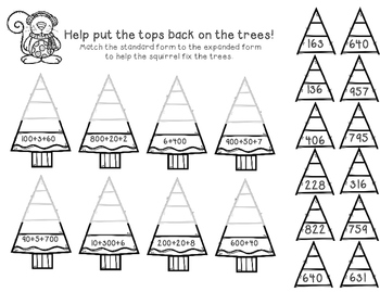 Tree Top Place Value