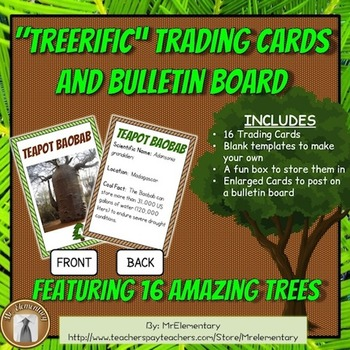 Tree Trading Cards and Bulletin Board