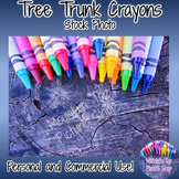 Tree Trunk Crayons (Stock Photo)