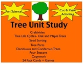 Tree Unit Study(Printables, Centers, Hands on activities a