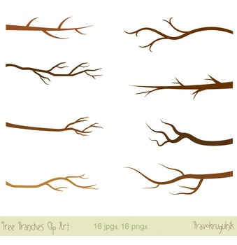Tree branches clipart, Silhouette clip art, Branches with green leaves
