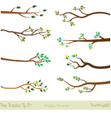 Tree branches clipart, Silhouette clip art, Branches with