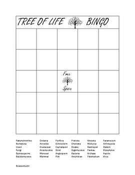 Tree of Life Bingo