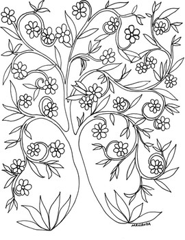 Tree of Life Coloring Sheet